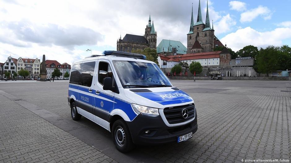 موتر پولیس در شهر ایرفورت آلمان