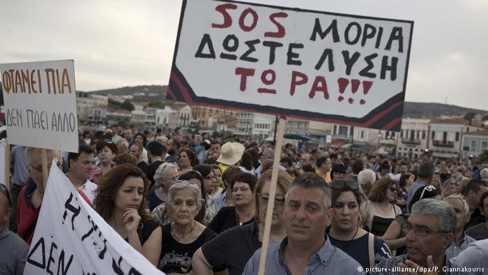 Protest on Lesbos island