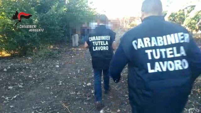 Archive photo of Italian police in action against abusive labor practices | Photo: ANSA/CARABINIERI