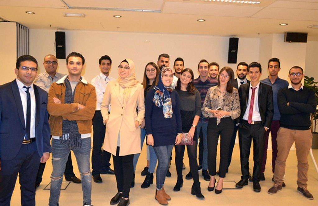 ANSA / مجموعة من الطلاب التونسيين المستفيدين من برنامج منظمة الهجرة الدولية. المصدر: منظمة الهجرة الدولية.