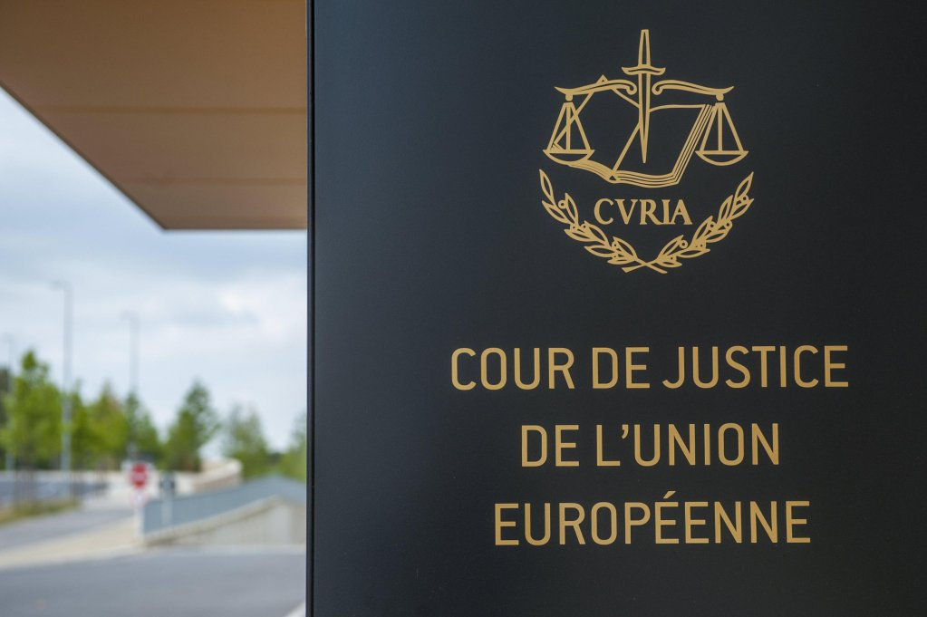 The entrance to European Court of Justice in Brussels. Credit: ANSA