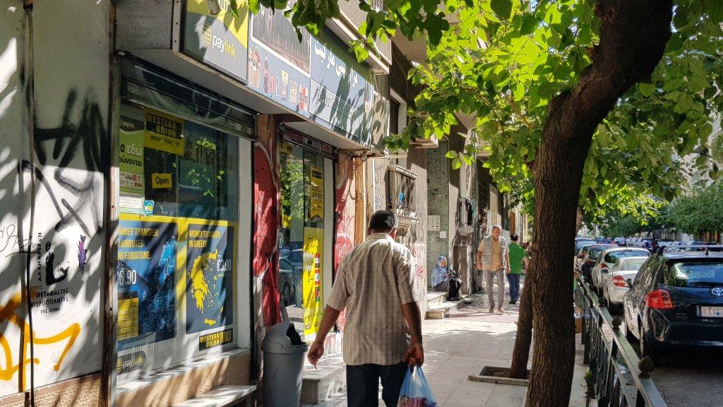 Une rue d'Athenes, pres de Victoria Park. Photo: Aasim Saleem