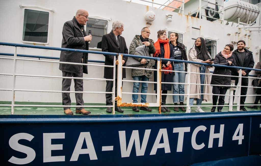 The Sea-Watch 4 was inaugurated in Kiel on February 20, 2020 | Photo: Sea-Watch