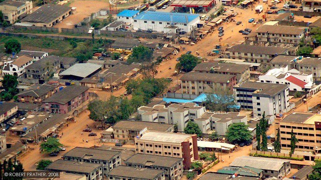 Vue aérienne de Lagos, la plus grande ville du Nigeria. Crédit : flickr