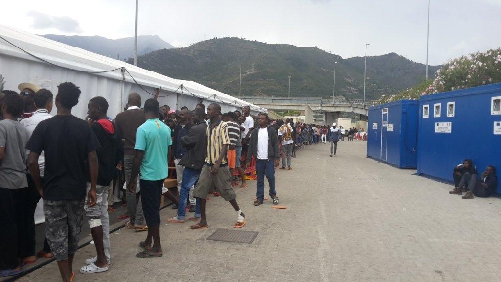 Archive: Migrants at Parco Roja in Ventimiglia in 2016   Photo: ANSA