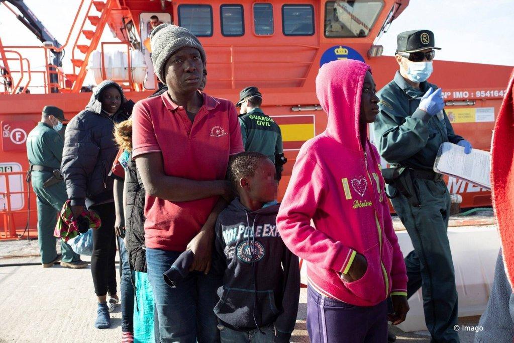 Des migrants arrivant en Espagne (archives) Crédit : Imago