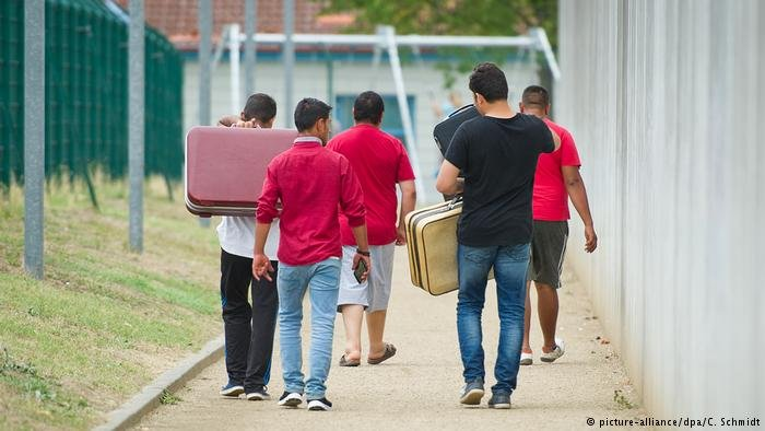 Migrants in Ingelheim, Germany