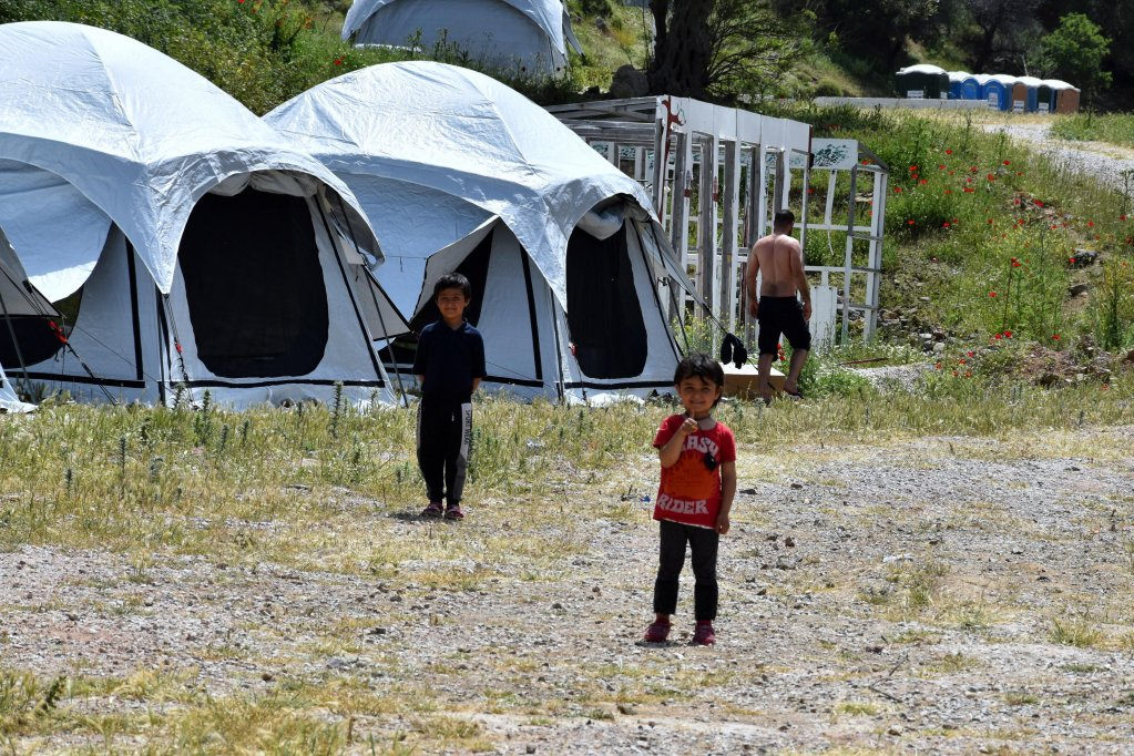 Child refugees detained in reception facilities on the island of Lesbos where the COVID-19 lockdown continues   Photo: EPA/Stratis Balaskas