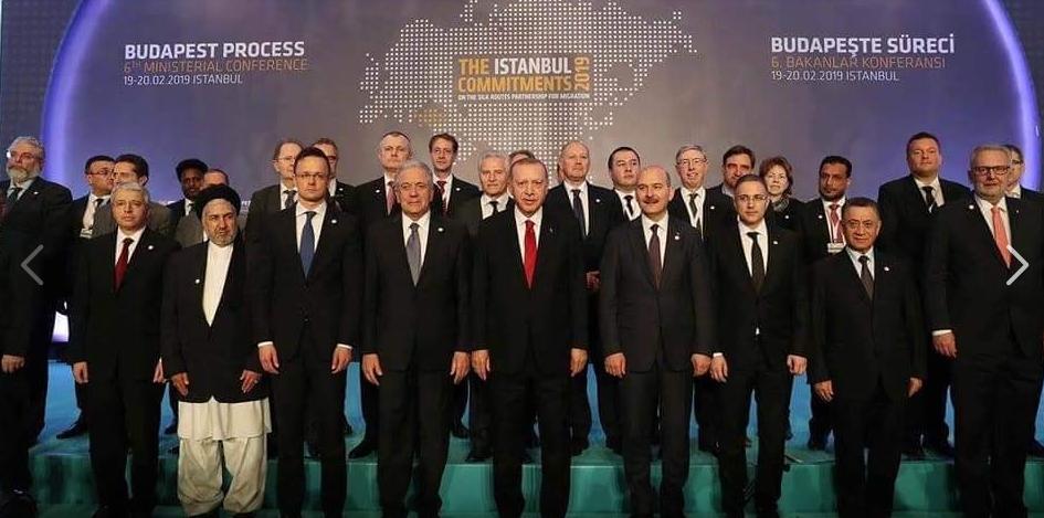 """اعضای شرکت کننده در نشست """"روند بوداپست"""" / عکس: اسکرین شات از فیس بوک وزارت امور مهاجرین"""