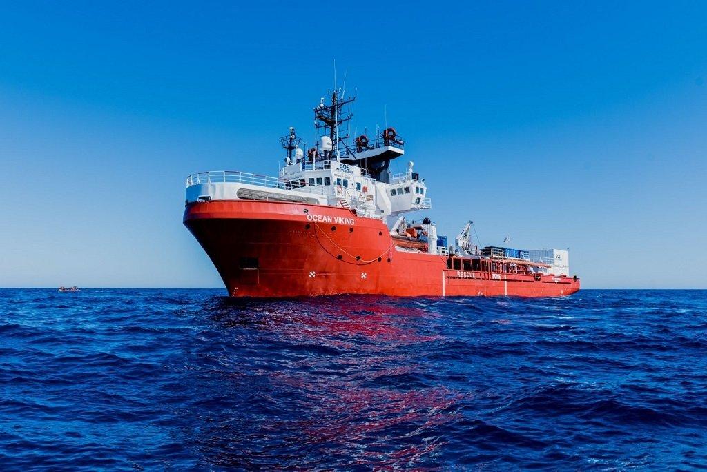 L'Ocean Viking pourra reprendre la mer début janvier 2021 (photo d'archives). Crédit : SOS Méditerranée