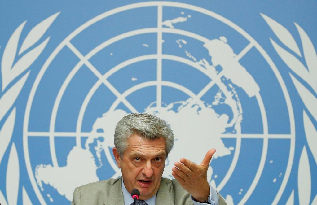 فیلیپو گراندی، رئیس کمیساریای عالی سازمان ملل برای پناهندگان.  عکس از رویترز