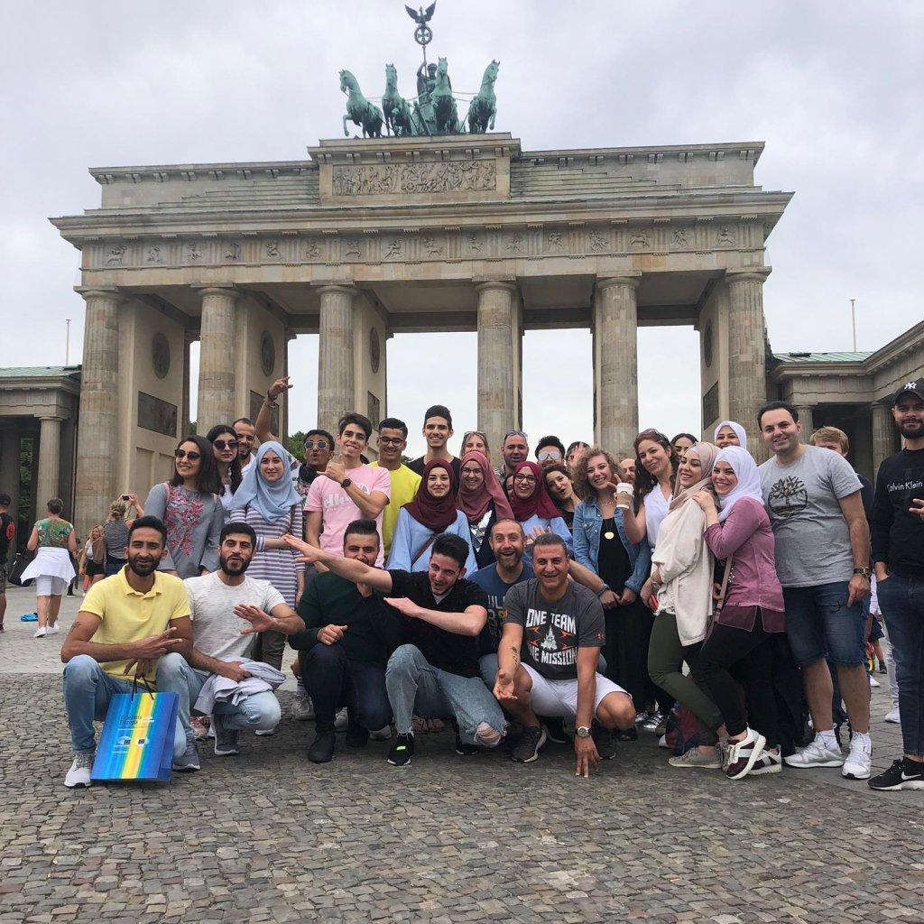 لاجئون في بون يزورن العاصمة برلين بدعوة من حزب الخضر