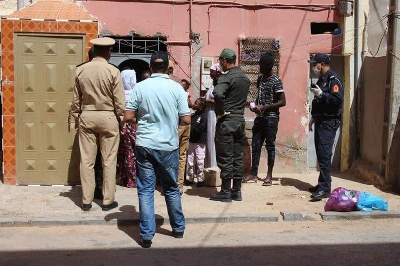 Arrestation non datée de migrants à Laâyoune, au Maroc. Crédit : compte Facebook de l'AMDH