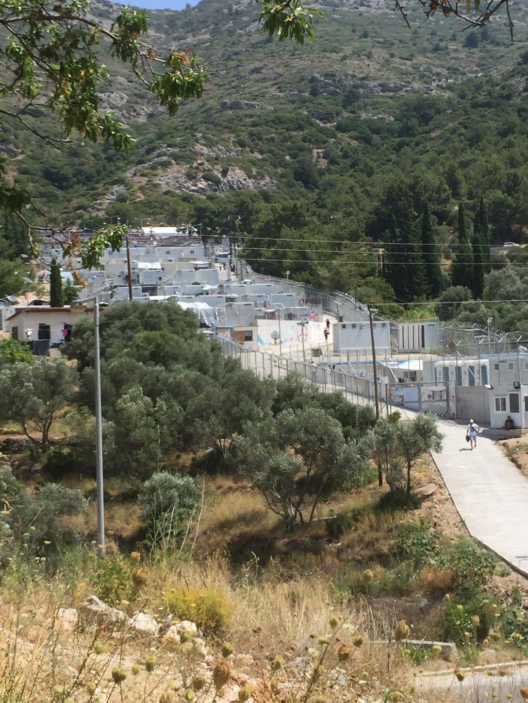مخيم فاتي على جزيرة ساموس اليونانية. أرشيف