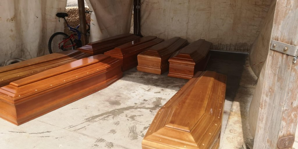 Coffins for the migrants who died in the June 30 shipwreck off Lampedusa | Photo: ANSA