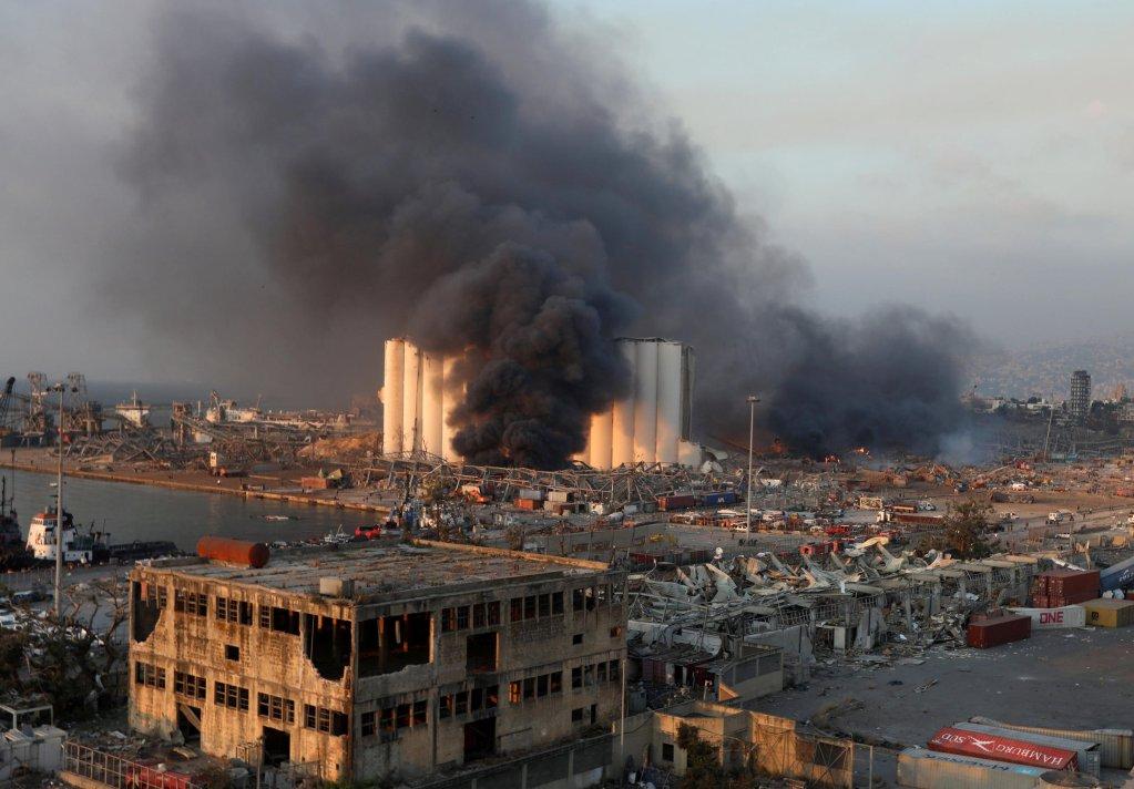 انفجار مرفأ بيروت يوم 4 أغسطس آب 2020. رويترز