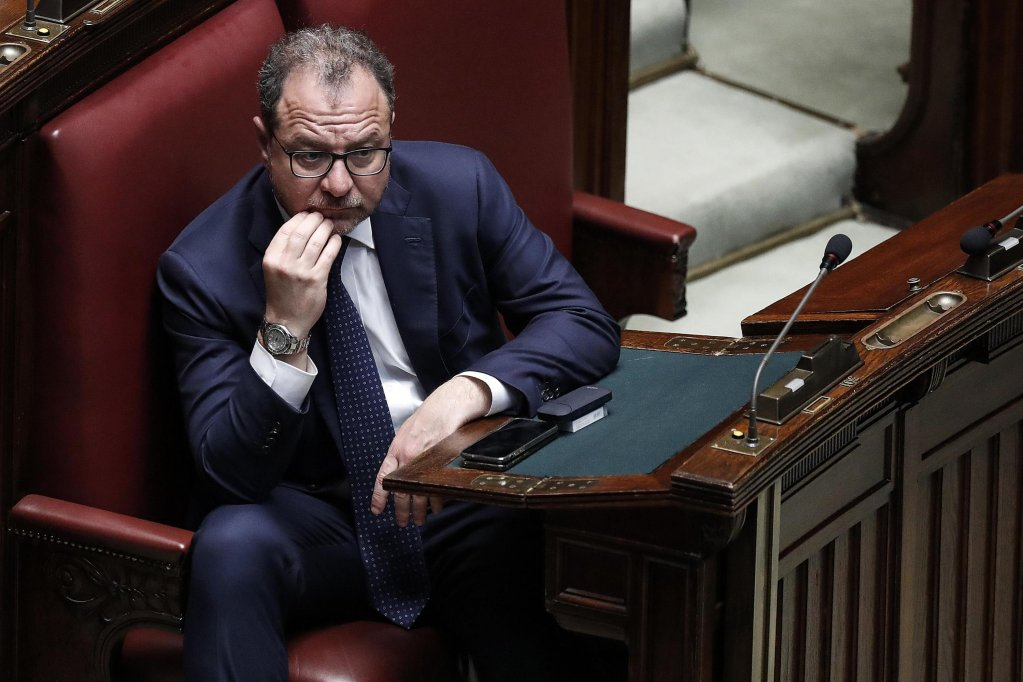Undersecretary Giorgio Mulè in the Italian parliament in May 2018 | Photo: ANSA/Riccardo Antimiani