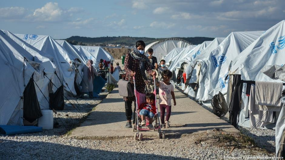 اردوگاه کاراتیپه در جزیره لیسبوس یونان دسمبر ۲۰۲۰