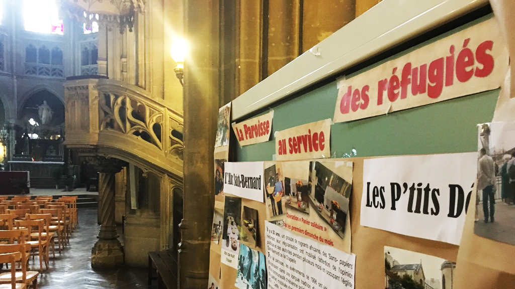 Saint-Bernard Church has been helping undocumented immigrants for many years. (Photo: InfoMigrants)