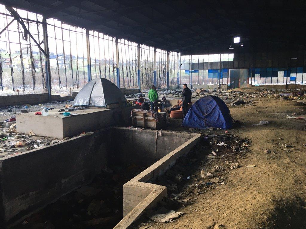 À Velika Kledusa, certains migrants ont tenté de traverser la frontière croate des dizaines de fois. Crédit : InfoMigrants.