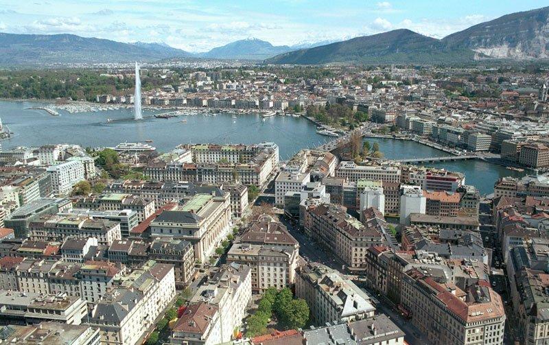 CC 3.0/MadGeographer |Vue générale de la ville de Genève en Suisse. (Image d'illustration)