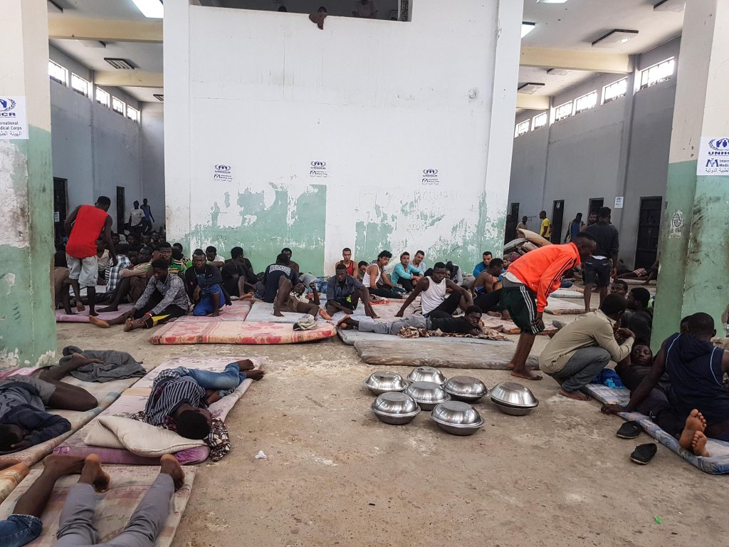 A migrant detention centre in Zawiya, 30 kilometers from Tripoli | Photo: ANSA/Zuhair Abusrewil
