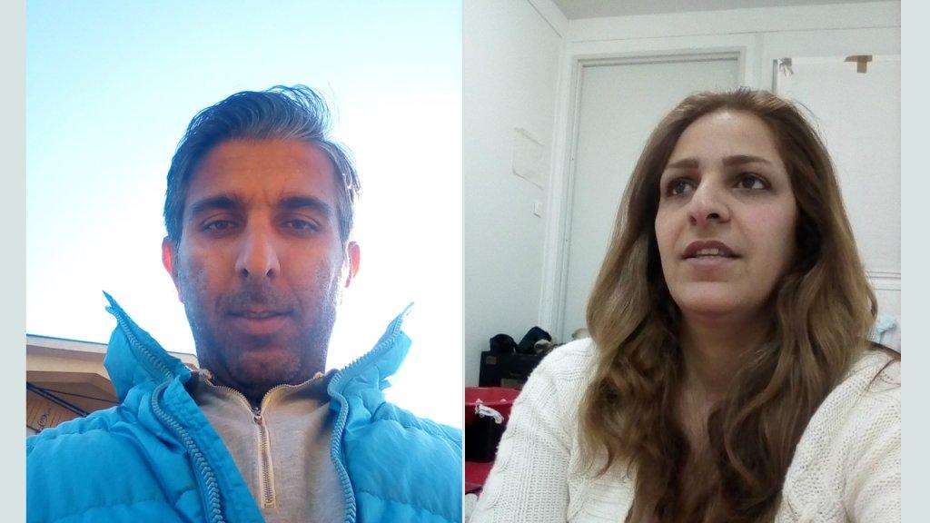 Vahid et Elaheh viennent d'Iran et tentent depuis plusieurs mois de demander l'asile en Europe. Crédit : Vahid Lotfi pour InfoMigrants