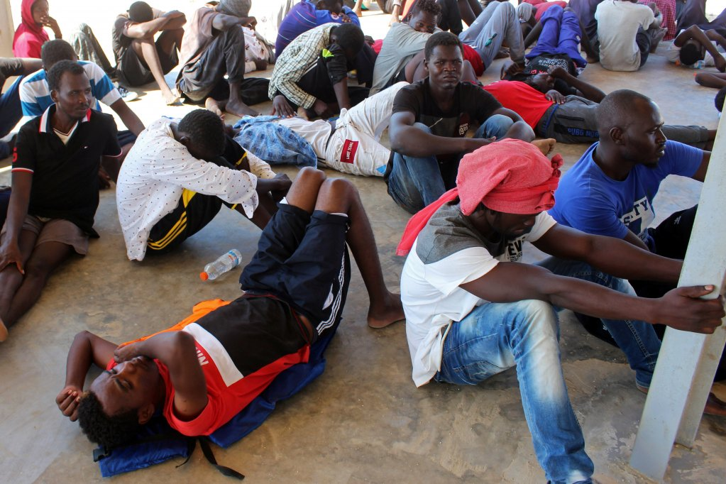Some of the migrants brought back to Khums by the Libyan coast guard | Photo: Reuters
