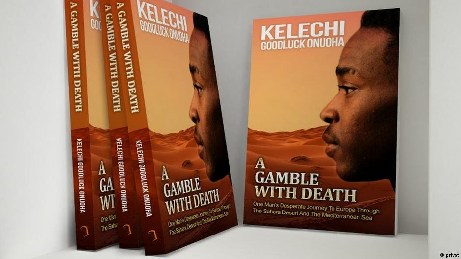 "Book cover of ""A Gamble with Death"" by Kelechi Goodluck 