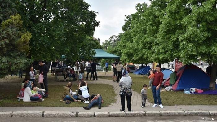 یکی از محلات در بوسنیا که پناهجویان در آن زندگی میکنند.