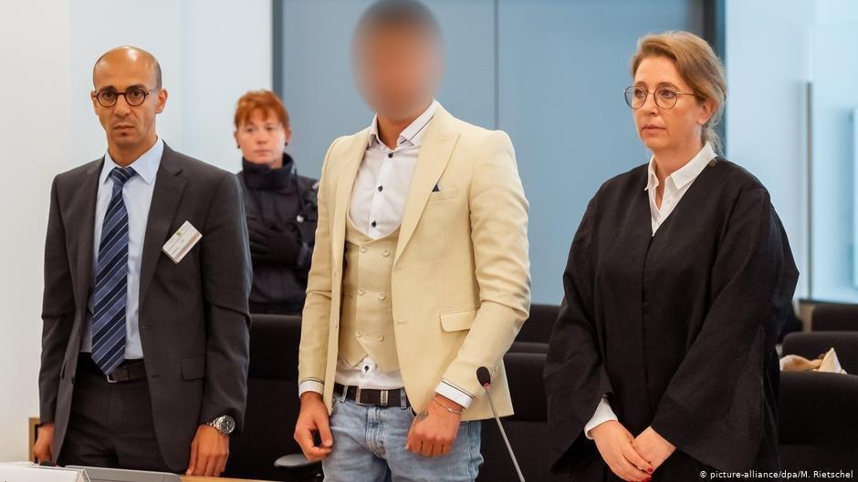 Alaa S. in Chemnitz court   Photo: Picture-alliance/dpa/M.Rietschel