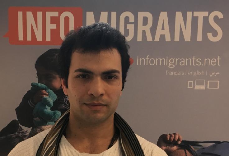 Reshad souhaite continuer sa carrière de mannequin en France. Crédit : InfoMigrants