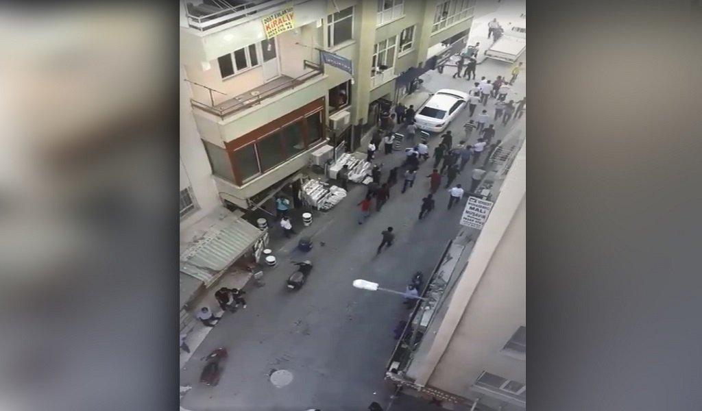 صورة ملتقطة من فيديو يظهر فيه أعمال شغب في ولاية أورفا جنوب تركيا 28 أيلول/سبتمبر