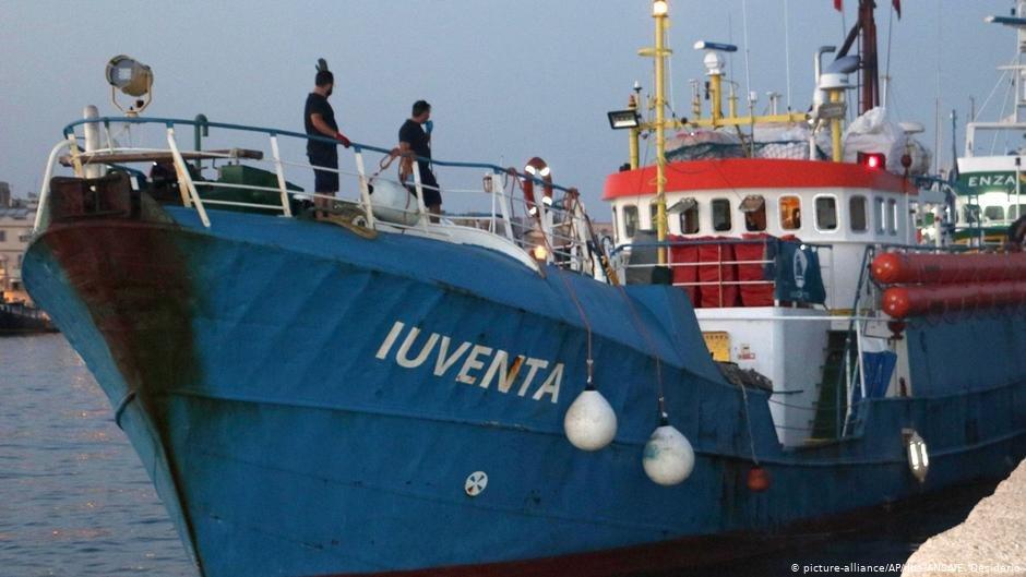کشتی نجات یوونتا در ماه اگست سال ۲۰۱۷ توسط مقام های ایتالیایی ضبط شد./عکس: Picture-alliance/AP/dpa