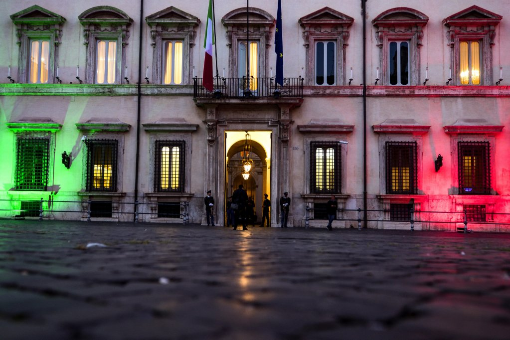 Palazzo Chigi, seat of the Italian government, during the cabinet meeting, Rome, 5 October 2020 | Photo: Angelo Carconi / ANSA