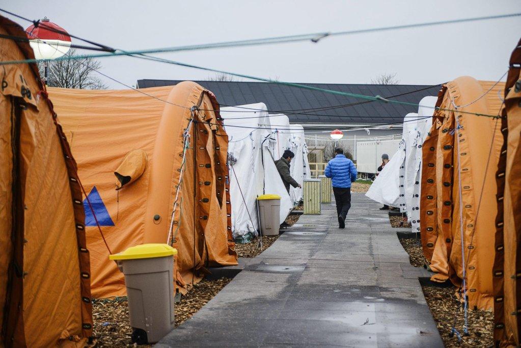 ANSA / جانب من مخيم للاجئين في ثيستيد، شمال يوتلاند، بالدنمارك. المصدر: إي بي إيه / سارا كانجستيد.