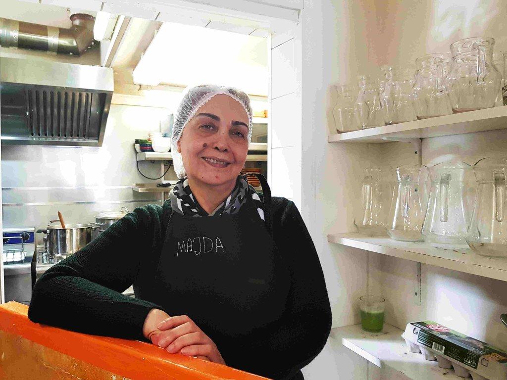 Majda Al-Ibrahim, chef et réfugiée syrienne à Marseille. Crédit : InfoMigrants