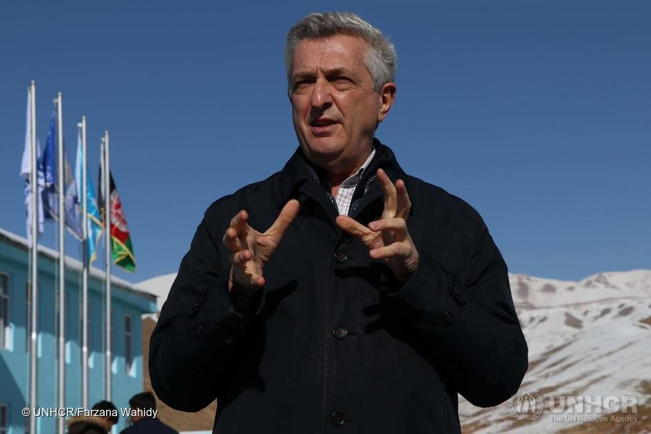 UN High Commissioner for Refugees Filippo Grandi visits the city of Bamyan, central Afghanistan to encourage the international community's continuing engagement in the country's delicate, ongoing peace process | Photo: © UNHCR/Farzana Wahidy