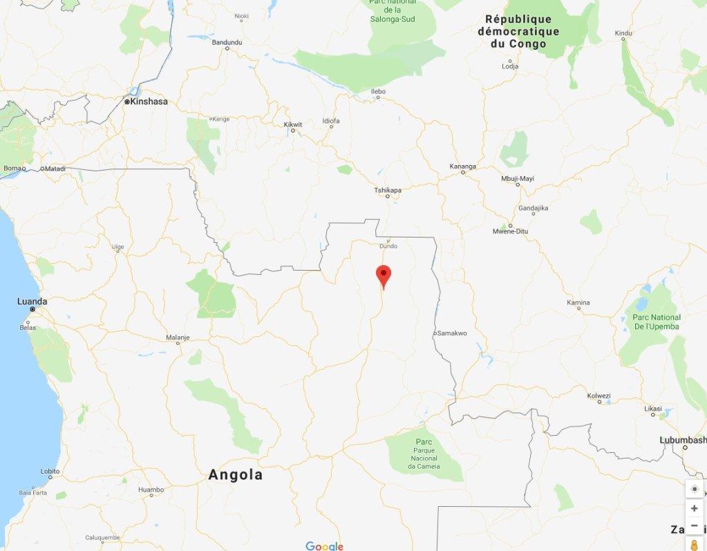 Google Maps |Des violences à Lucapa, dans la province du Lunda-Norte, ont fait une dizaine de morts depuis mercredi dernier.