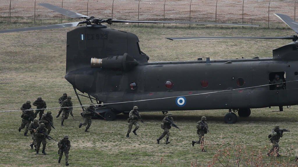 © رويترز |عناصر من الجيش اليوناني خلال تدريبات عسكرية