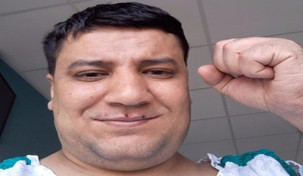 محمد أبو هربيد، مصاب بفيروس كورونا، في المستشفى.
