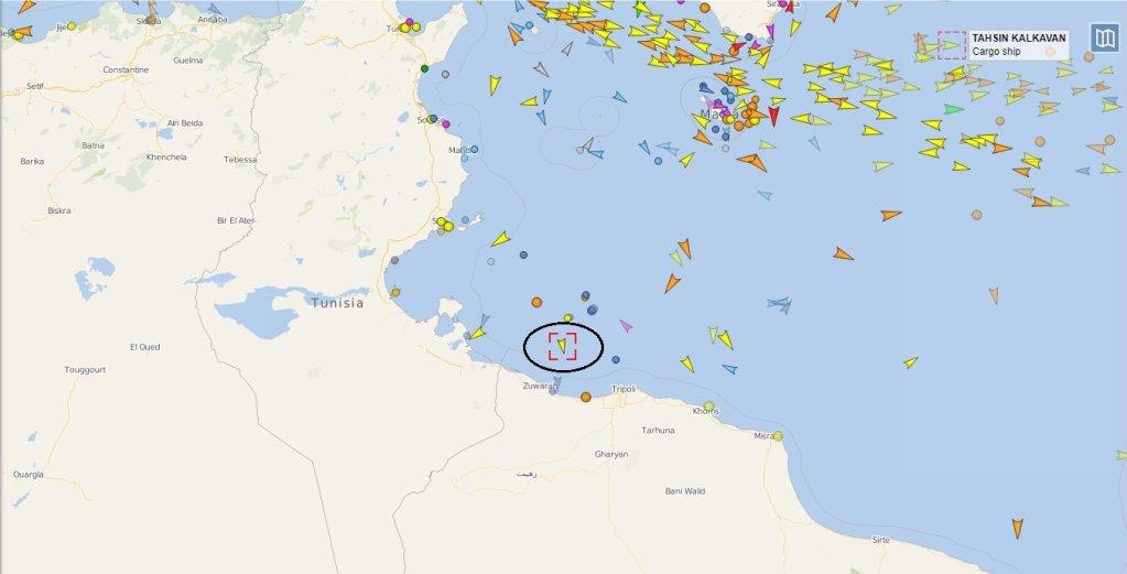 L'Alan Kurdi, navire humanitaire de  l'ONG allemande Sea-Eye, était situé à environ soixante kilomètres des côtes libyennes, lundi 29 juillet, à 10h05 (heure française).