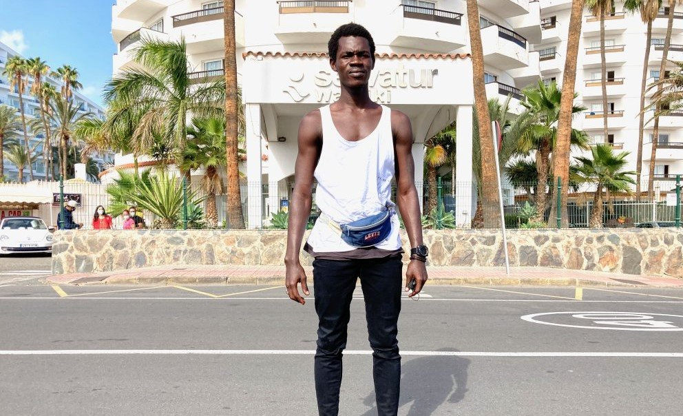 18-year-old Babacar came to the Canary Islands by boat from Senegal | Photo: Marco Wolter/InfoMigrants