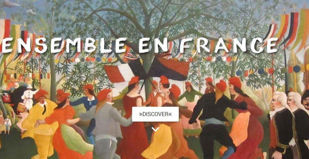 Screenshot of the Ensemble en France website