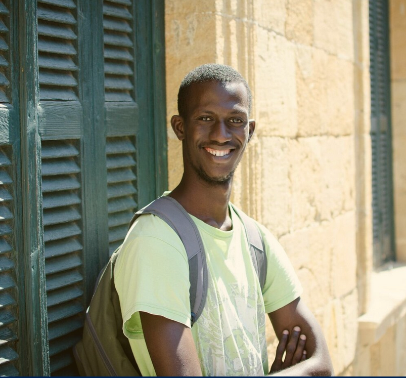 Ibrahim Kamara comes from The Gambia and crossed the Mediterranean from Libya to Cyprus on a boat. He is now a fellow with Project Phoenix | Photo: Project Phoenix