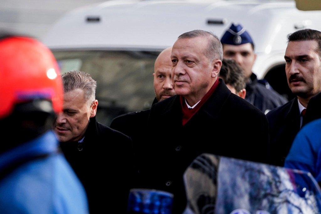 Kenzo TRIBOUILLARD / AFP |Le président turc Recep Tayyip Erdogan à Bruxelles, le 9 mars 2020.