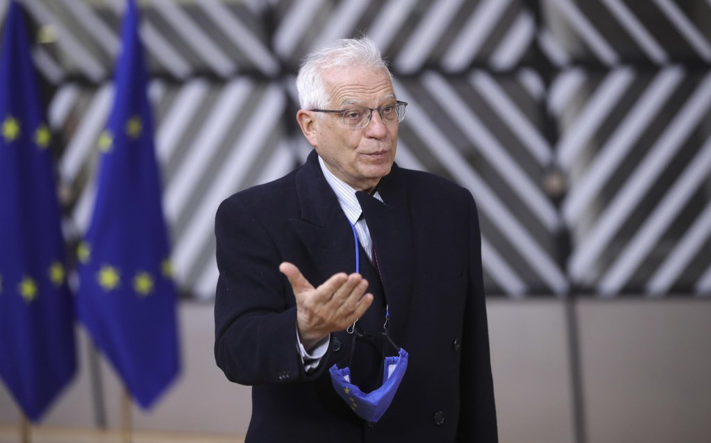EU High Representative for Foreign Affairs Josep Borrell arrives for the European Foreign Ministers and Interior Ministers Council in Brussels, Belgium, 15 March 2021 | Photo: EPA/O. Hoslet