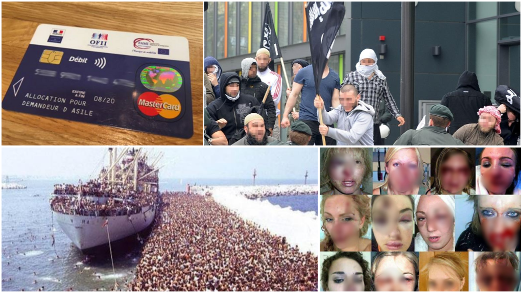 صور عديدة محوّرة ومستخدمة للتلاعب بالرأي العام حول أزمة الهجرة.