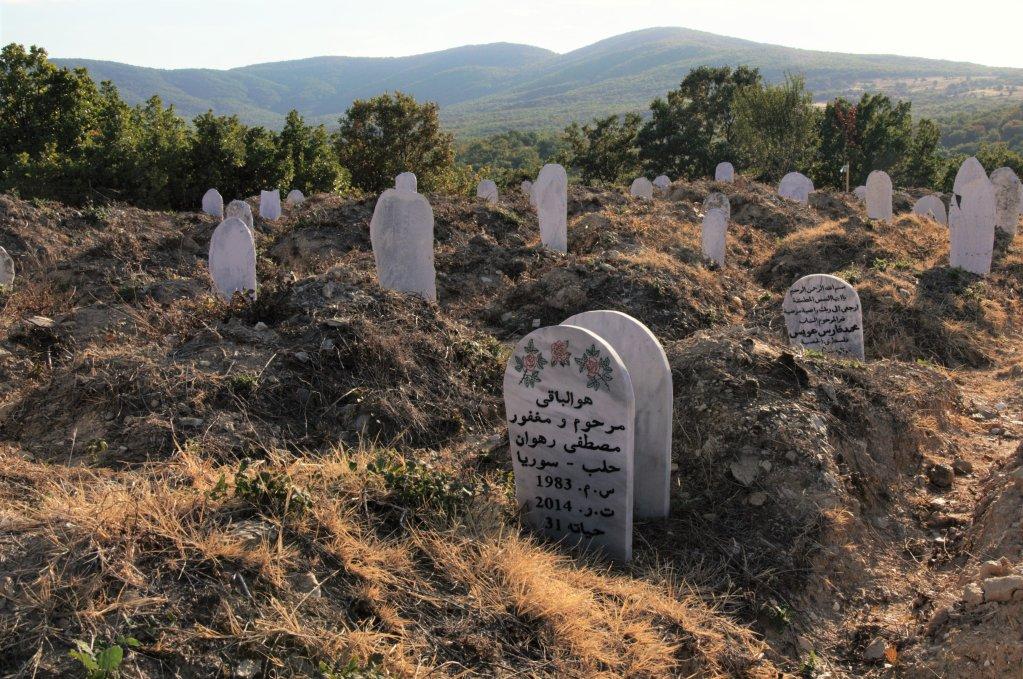 مقبرة للمهاجرين مجهولي الهوية في قرية سيديرو شمال اليونان. الصورة: دانا البوز /مهاجرنيوز