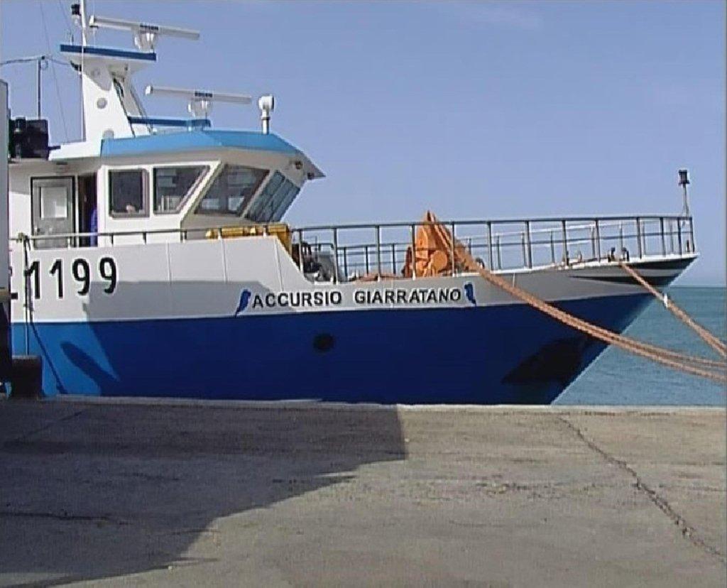 The Accursio Giarratano motorized fishing boat form Sicily   PHOTO: ANSA